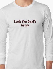 Louis Van Gaal's Army - Manchester United, Football Long Sleeve T-Shirt