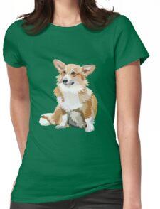 Corgi Vector Womens Fitted T-Shirt