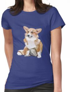 Corgi Vector Womens Fitted T-Shirt
