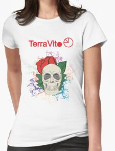 Colourful Skull  Womens Fitted T-Shirt