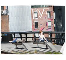High Line, Spring View, New York's Elevated Garden and Park Poster