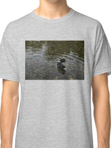 Crystal Clear Water Play - Cute Puppy In The River Classic T-Shirt