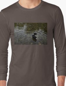 Crystal Clear Water Play - Cute Puppy In The River Long Sleeve T-Shirt