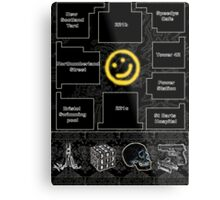 Smiley Cluelocked Metal Print