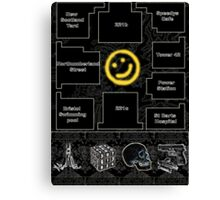 Smiley Cluelocked Canvas Print