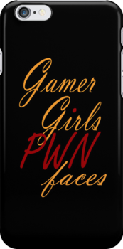 Gamer Girls PWN faces by Ameda Nowlin