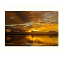 Golden Day. (sunrise ) Art Print
