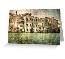 Vintage architecture on Grand canal, venice. Greeting Card
