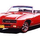 1969 Pontiac GTO Convertible ver 3 by brianrolandart