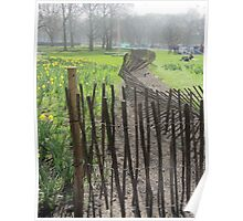 Green Park London Wonky Fence Poster