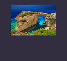 The rocky arch of Trypitos - Paxos island Unisex T-Shirt