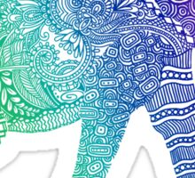 Zentangle Elephant Sticker