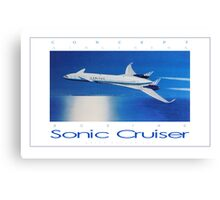 Boeing Sonic Cruiser Concept Aircraft ver 2 Canvas Print