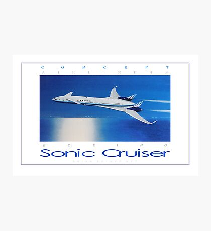 Boeing Sonic Cruiser Concept Aircraft ver 2 Photographic Print