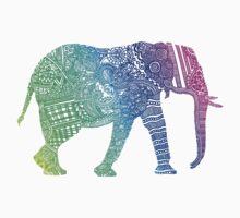Zentangle Elephant Baby Tee