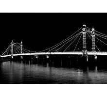 Albert Bridge London, Black and  white image Photographic Print