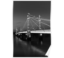 Albert Bridge London, Black and  white image Poster