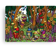 Grateful Dead Dancing Bears - Teddy Bear Picnic Canvas Print