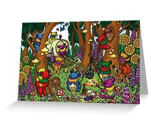 Grateful Dead Dancing Bears - Teddy Bear Picnic Greeting Card