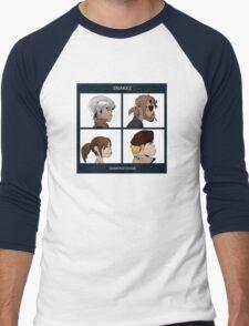 Gorillaz Metal Gear Solid Album Parody Men's Baseball ¾ T-Shirt
