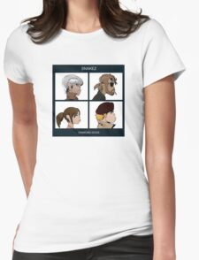 Gorillaz Metal Gear Solid Album Parody Womens Fitted T-Shirt