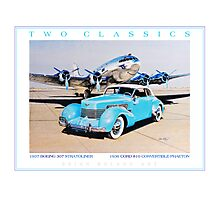 Two Classics  1937 Boeing 307 & 1936 Cord 810 Photographic Print