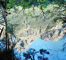 NO! It's Not Up-side-down! Mirror Lakes #3, New Zealand by Carole-Anne