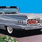 1960 Ford Thunderbird Convertible  by brianrolandart