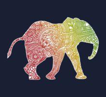 Baby Zentangle Elephant One Piece - Short Sleeve