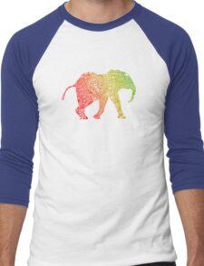 Baby Zentangle Elephant Men's Baseball ¾ T-Shirt