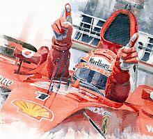 Scuderia Ferrari Marlboro F 2001 Ferrari 050 M Schumacher winner 2002 F1 season by Yuriy Shevchuk