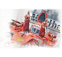 Scuderia Ferrari Marlboro F 2001 Ferrari 050 M Schumacher winner 2002 F1 season Poster