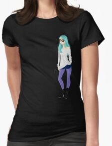 Purple stockings Womens Fitted T-Shirt
