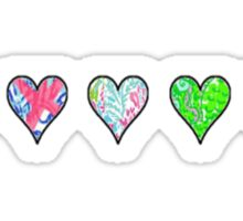 Lilly Hearts Sticker