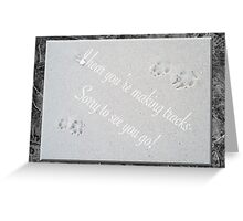 Sorry You're Leaving Card - Fox Tracks  Greeting Card