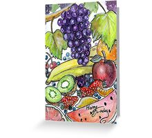 Fruitarian Bday Card - commissioned Greeting Card