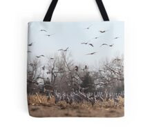 Sandhill Crains Tote Bag