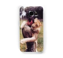 Man Hugging His Lion Samsung Galaxy Case/Skin