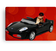 ☁ ☂  COOL CAT IN HIS COOL CAR ☁ ☂   Canvas Print