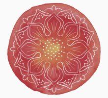 Watercolor red lotus Kids Tee
