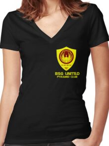 BSG United Pyramid Club Women's Fitted V-Neck T-Shirt
