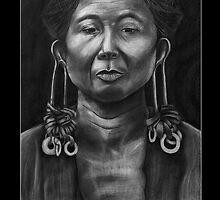 Outer Island Man, Chuuk - Black by Yvonne C. Neth