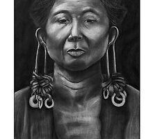 Outer Island Man, Chuuk - White by Yvonne C. Neth