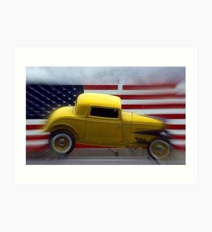 Yellow Truck Art Print