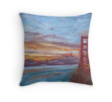 San Francisco Sunrise Throw Pillow