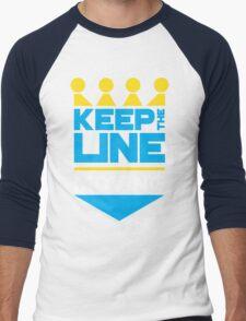 KC Royals: Keep the Line Moving Men's Baseball ¾ T-Shirt