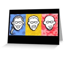 Davenport Johnson 3-color FACES design Greeting Card