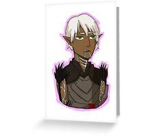 Dragon Age - Fenris portrait 2 Greeting Card