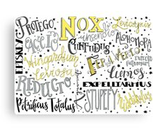 Spells & Charms-Yellow Canvas Print