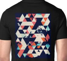 Geometric Paint Triangles Unisex T-Shirt